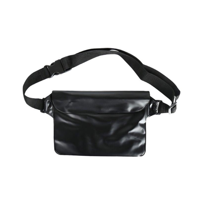 Drifting Swimming Bag Three-layer Sealed Waterproof Waistbag - BLACK