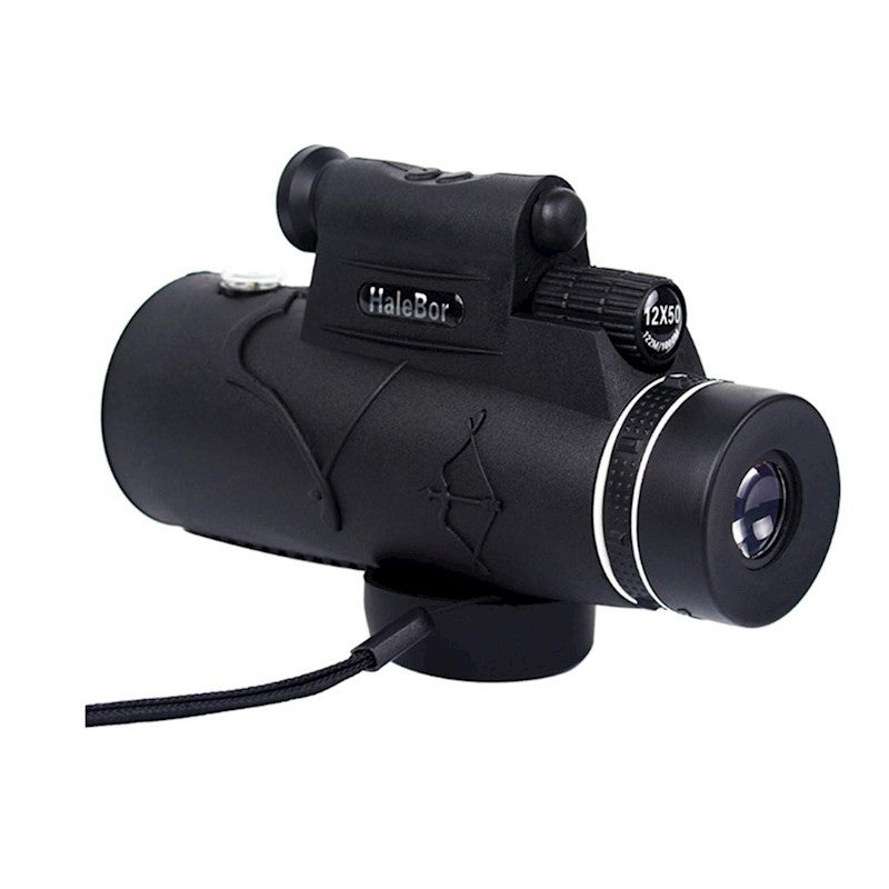 Monocular Telescope High Powered Spotting Scope with Smartphone Adapter
