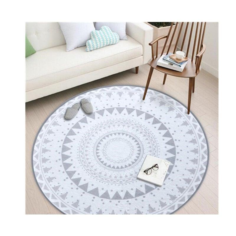 Nordic Style Round Decorative Carpet Area Rug Foot Door Hanging Basket Mat - 3#