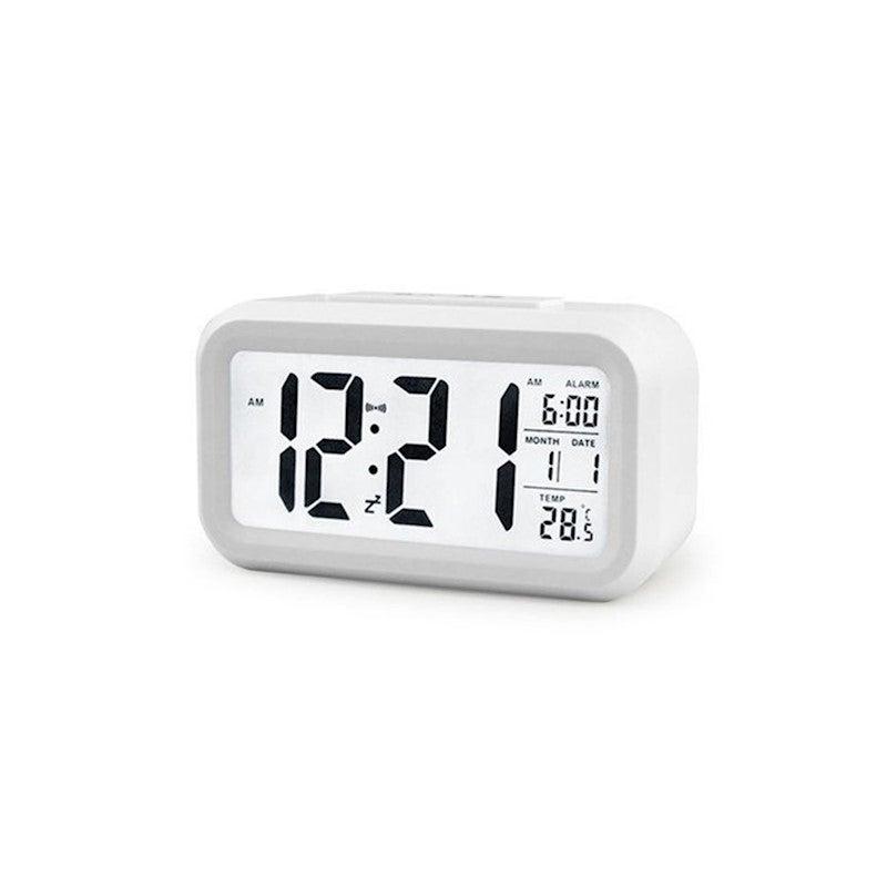 Temperature Alarm Clock Silence Electronic Clock Creative Digital Clock - WHITE
