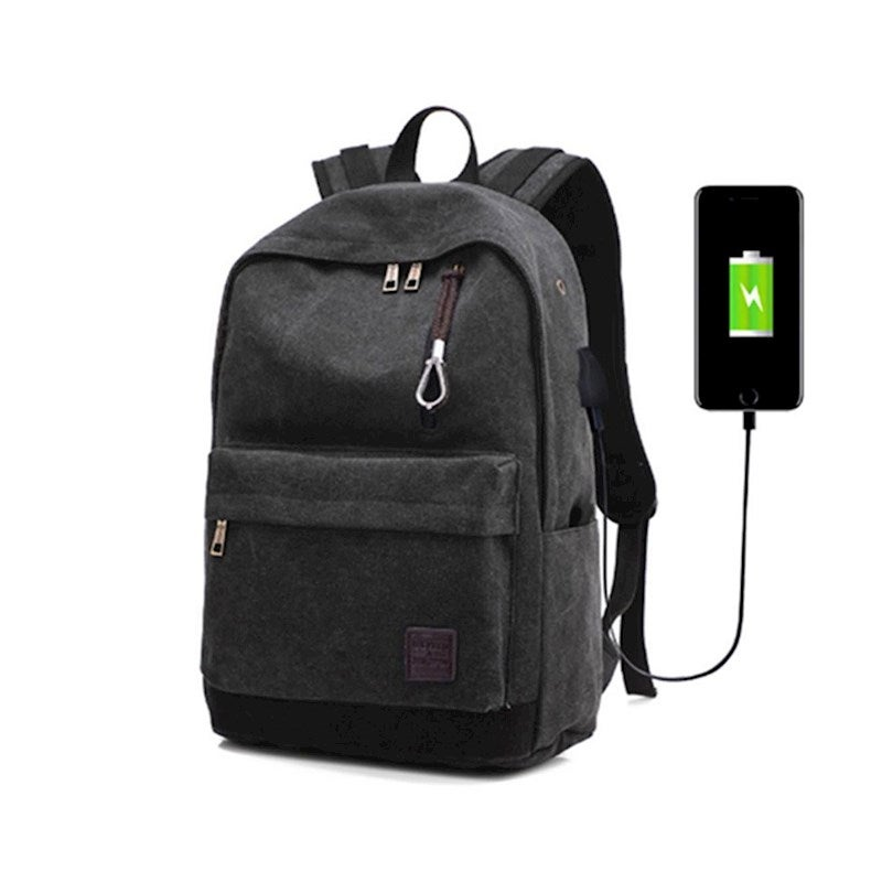 Waterproof Backpack with USB Charging Port and Lock & Headphone Compartment