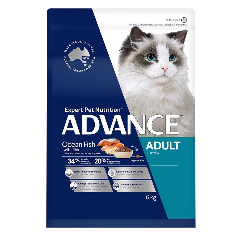 Advance Adult Cat Food Total Wellbeing Ocean Fish 6kg Premium Pet Food Nutrition