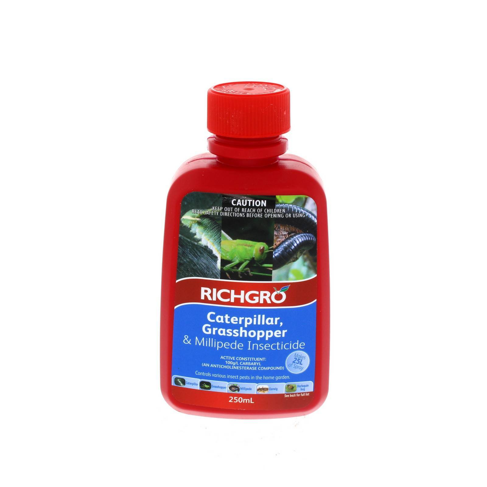 Caterpillar Grasshopper Millipede Insecticide 250ml 100g/L Carbaryl Richgro