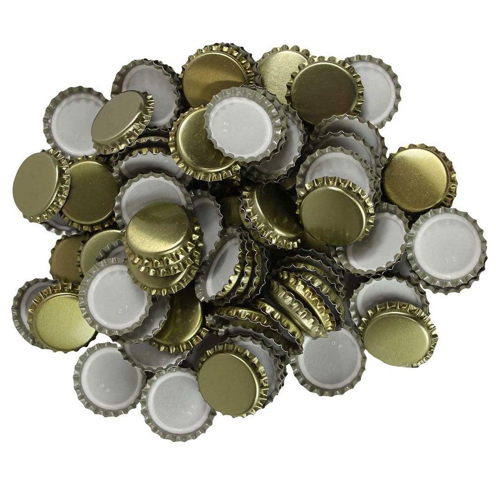 Crown Bottle Seals Cap x100 Caps - Gold Colour Home Brew