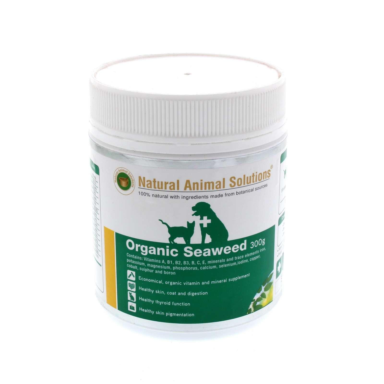 Dog Cat Essential Vitamins Organic Seaweed 300g Natural Animal Solutions