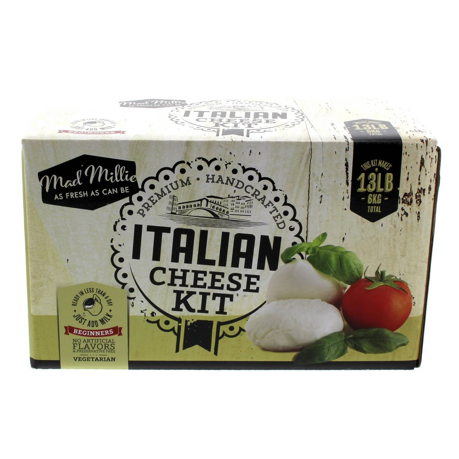 Mad Millie Beginner's Italian Cheeses Kit Hancrafted No Artificial Flavours Art