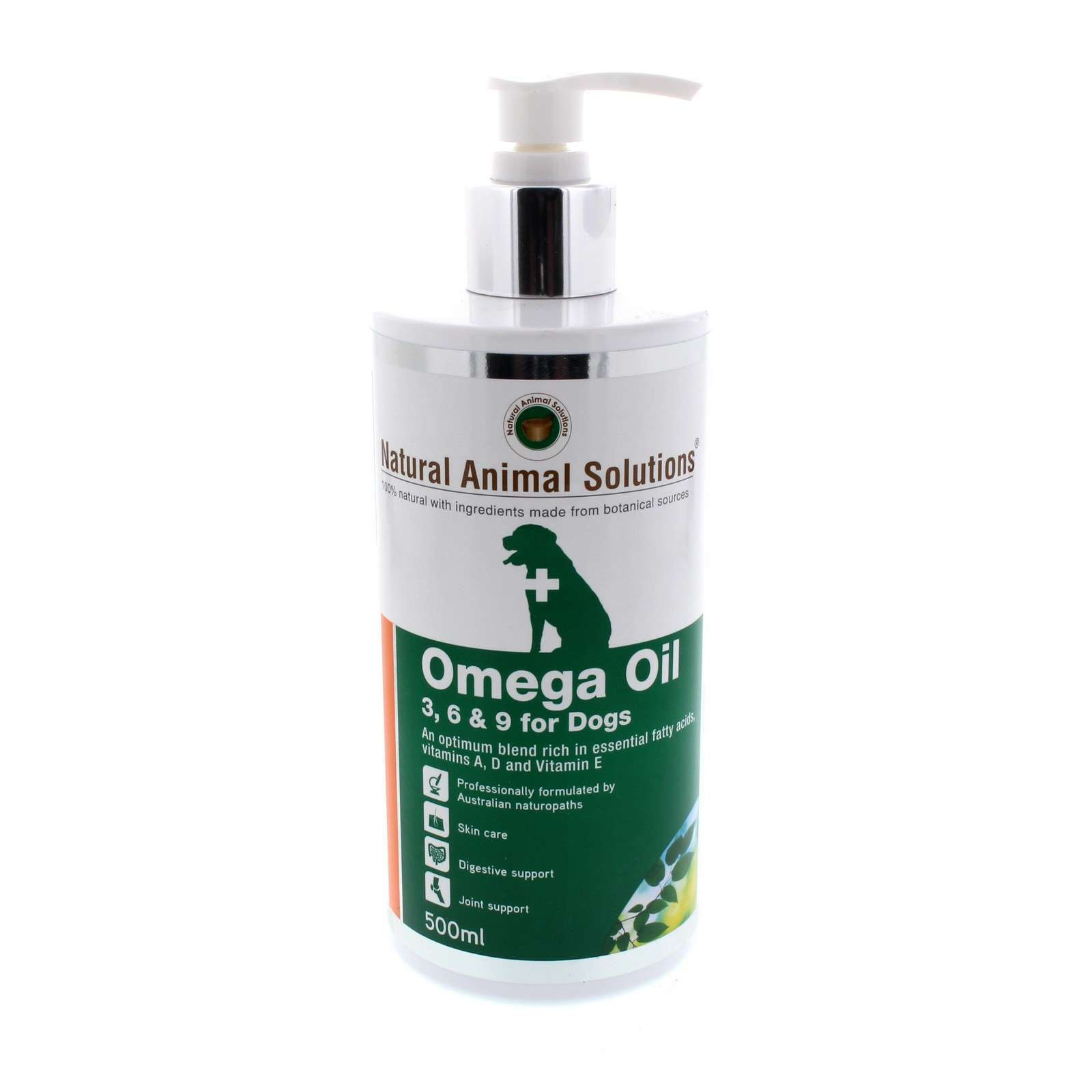 Omega Oil For Dogs Rich in Essential Vitamins 500ml Natural Animal Solutions