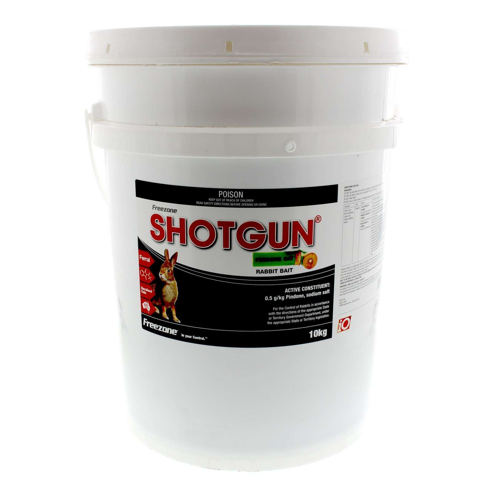 Shotgun Pindone Oat Rabbit Bait Oatbait Freezone 10kg Anticoagulant Oat Poison
