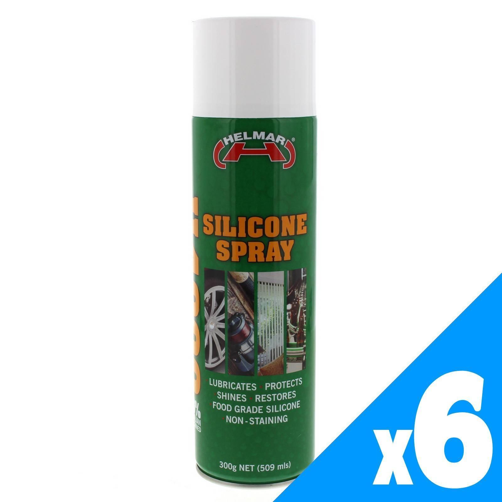 Silicone Spray Lubricant Protect Shine Restore 300g Aerosol Spray Can 6 Pack