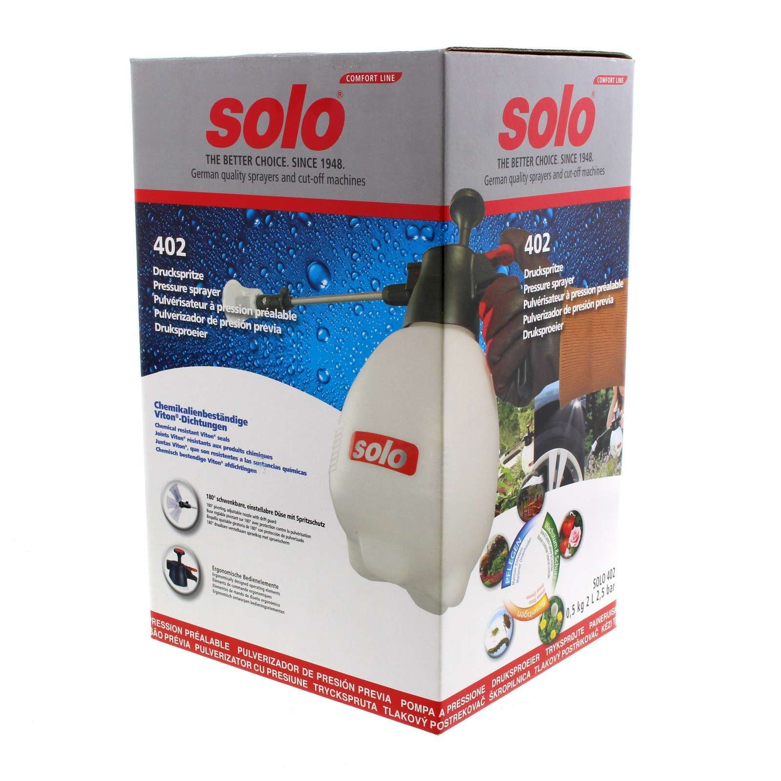 Solo 402 Sprayer 2L Viton Seals Lever Lock High Quality Genuine