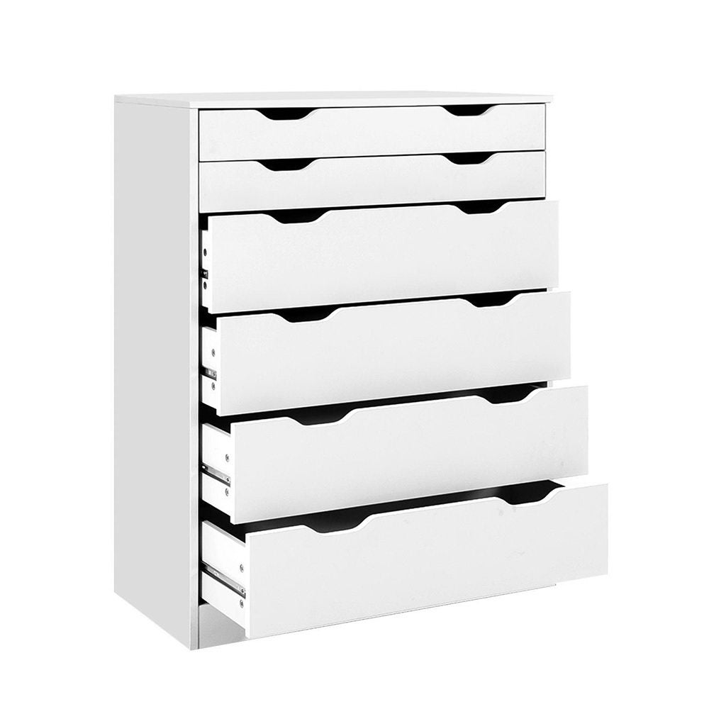 6 Chest of Drawers Tallboy Cabinet Storage Dresser Table Bedroom Storage