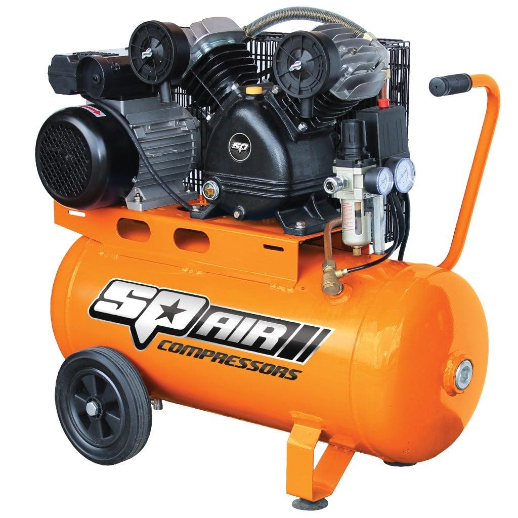 SP17 Portable Air Compressor 3HP Industrial 50L Tank Cast Iron Electric 240V