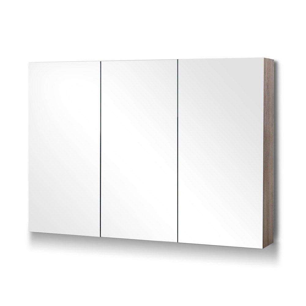Bathroom Vanity Shaving Mirror Cabinet 1200MM x 720MM Pencil Edge Natural