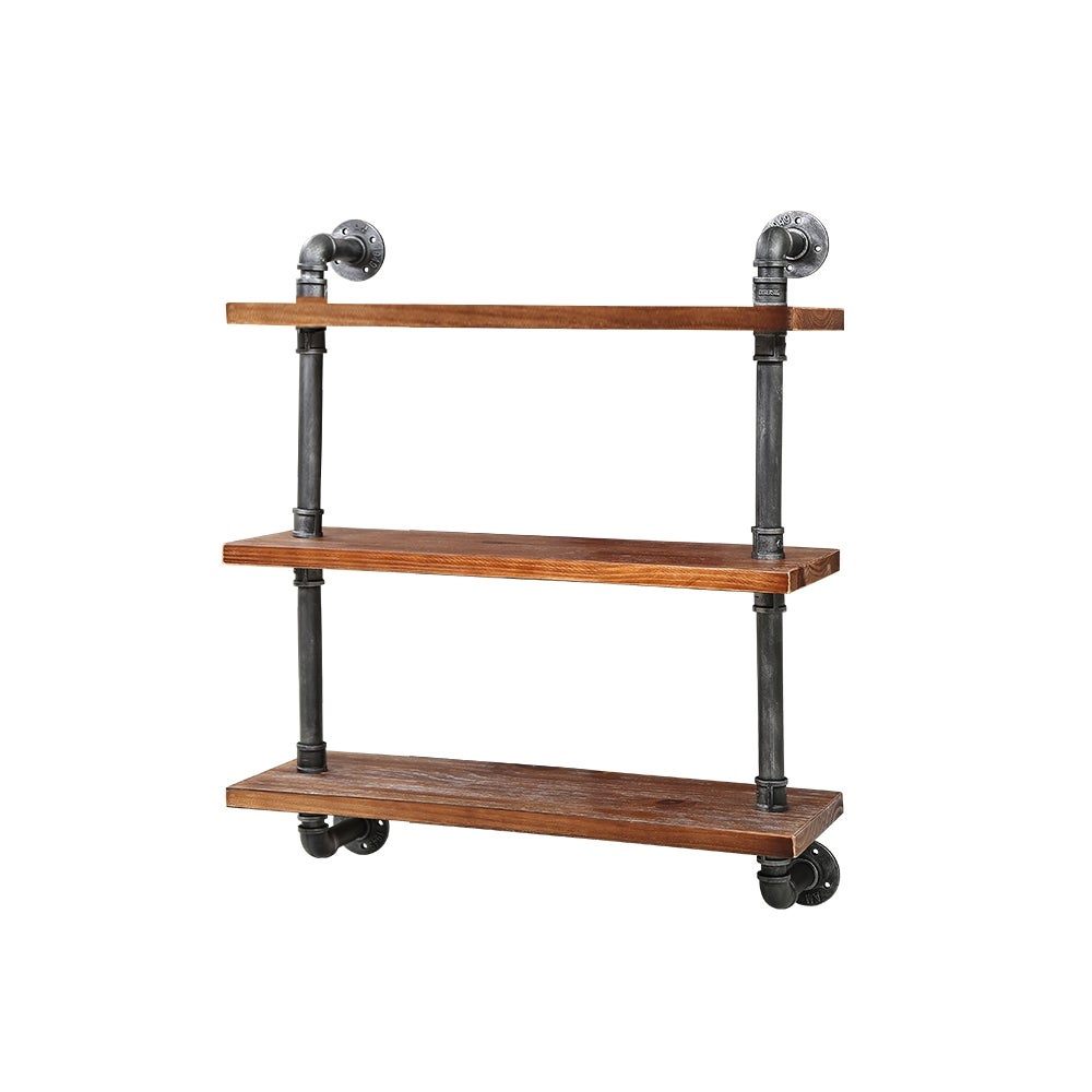 Display Shelves Wall Brackets Bookshelf Industrial DIY Pipe Shelf Rustic