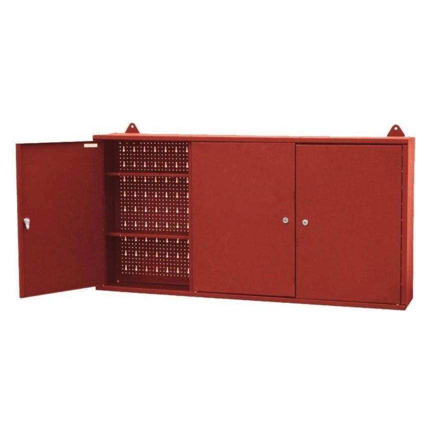 Wall Mounted Tool Box Cabinet Garage Workshop Storage 3 Lockable Doors