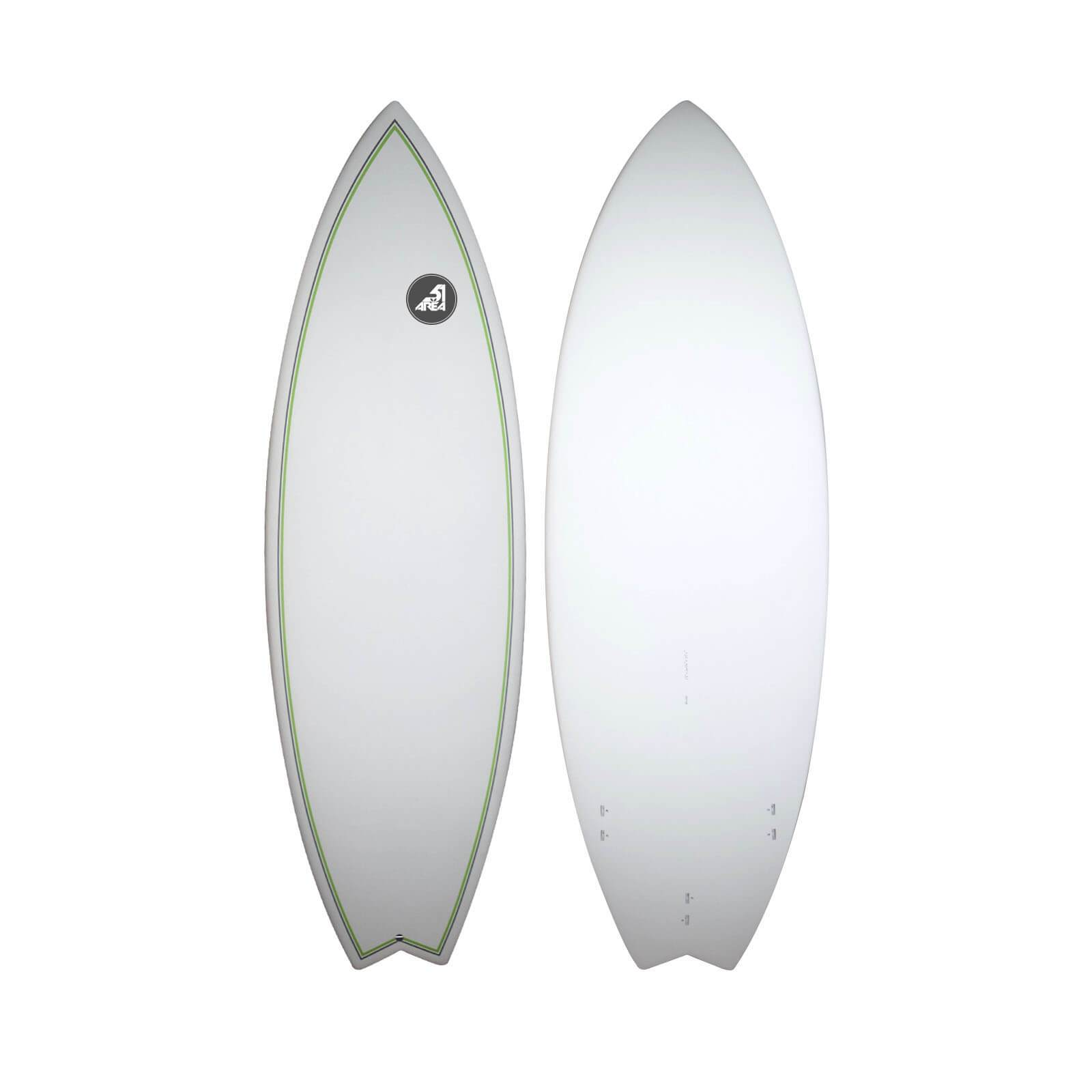 "AREA51 5'8x20 1/4""x2 1/2"" Fish Board Surfboard K0231"