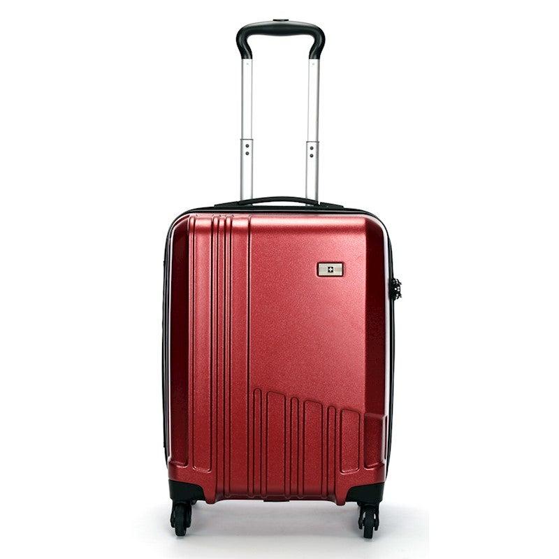 Swiss Luggage Suitcase Lightweight with TSA locker 8 wheels 360 degree rolling HardCase SN6612A-red