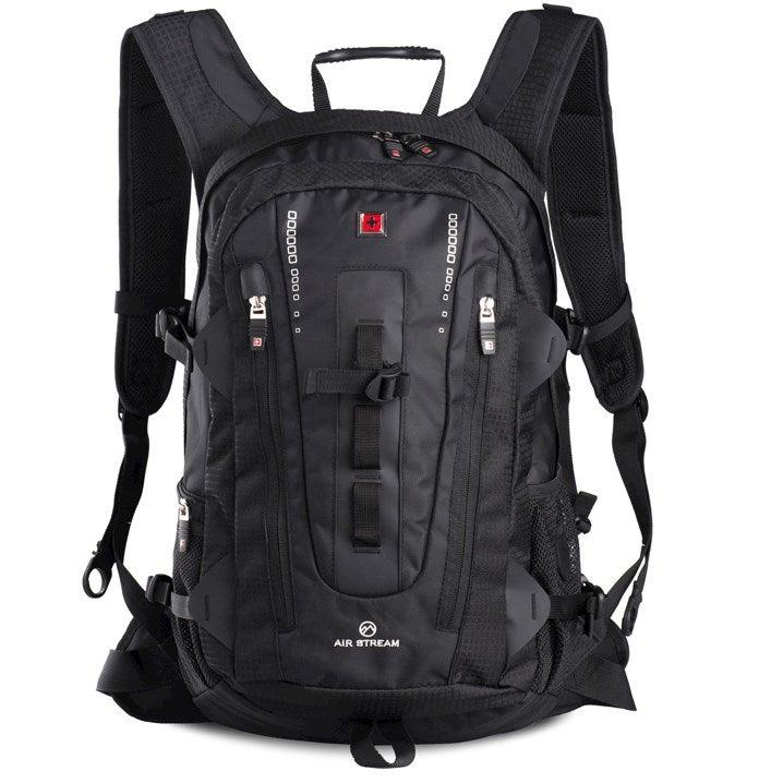 """Swisswin Swiss waterproof 15.6"""" laptop  Backpack School backpack  Travel Backpack SW9972 Black"""