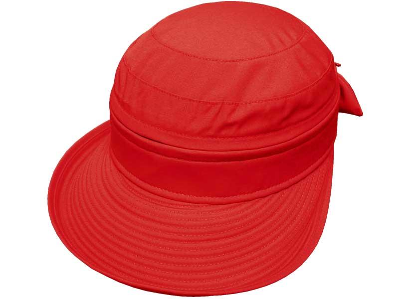 Avenel Ladies Polycotton Visor Cap - Red