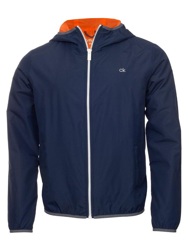 Calvin Klein 365 Lightweight Hooded Jacket - Navy/Orange