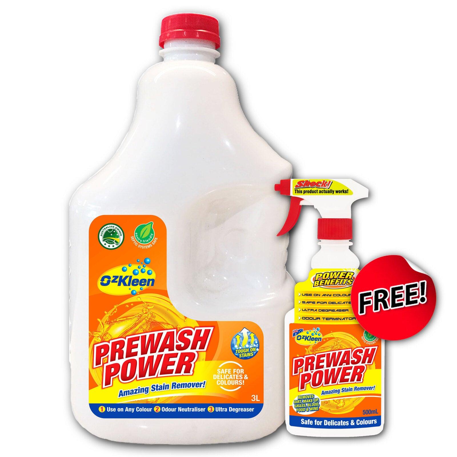 Prewash Power 3LTR + 500ml FREE Stain & Odour Remover