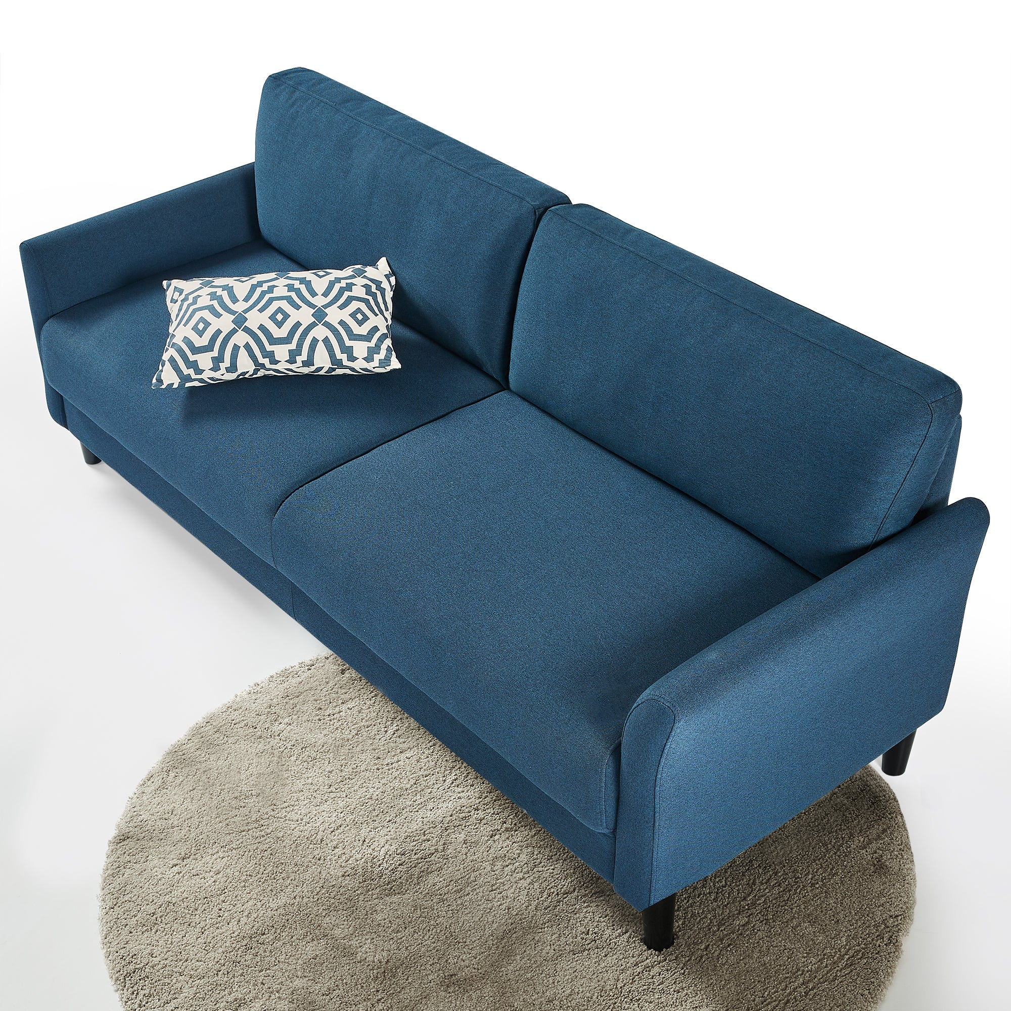 Zinus Jackie 3 Seater Sofa Couch - Blue Weave