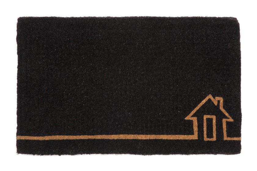 Habitate Ghar Black Door Mat