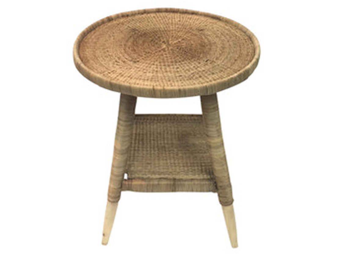 Zohi Interiors Genuine Malawi Side Table in Natural