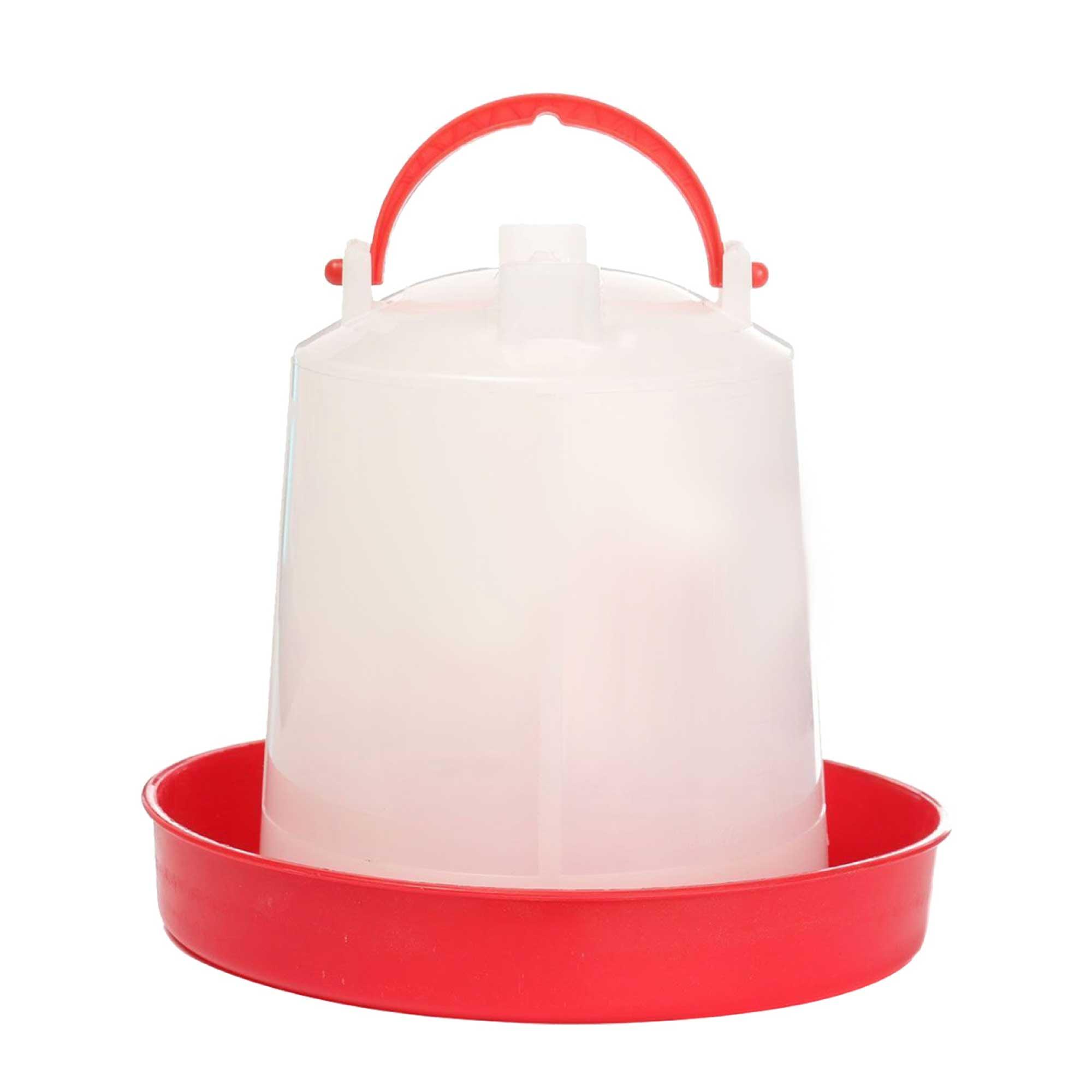 1L Automatic Chicken Drinker Poultry Chook Hen Waterer Water Dispenser Bucket