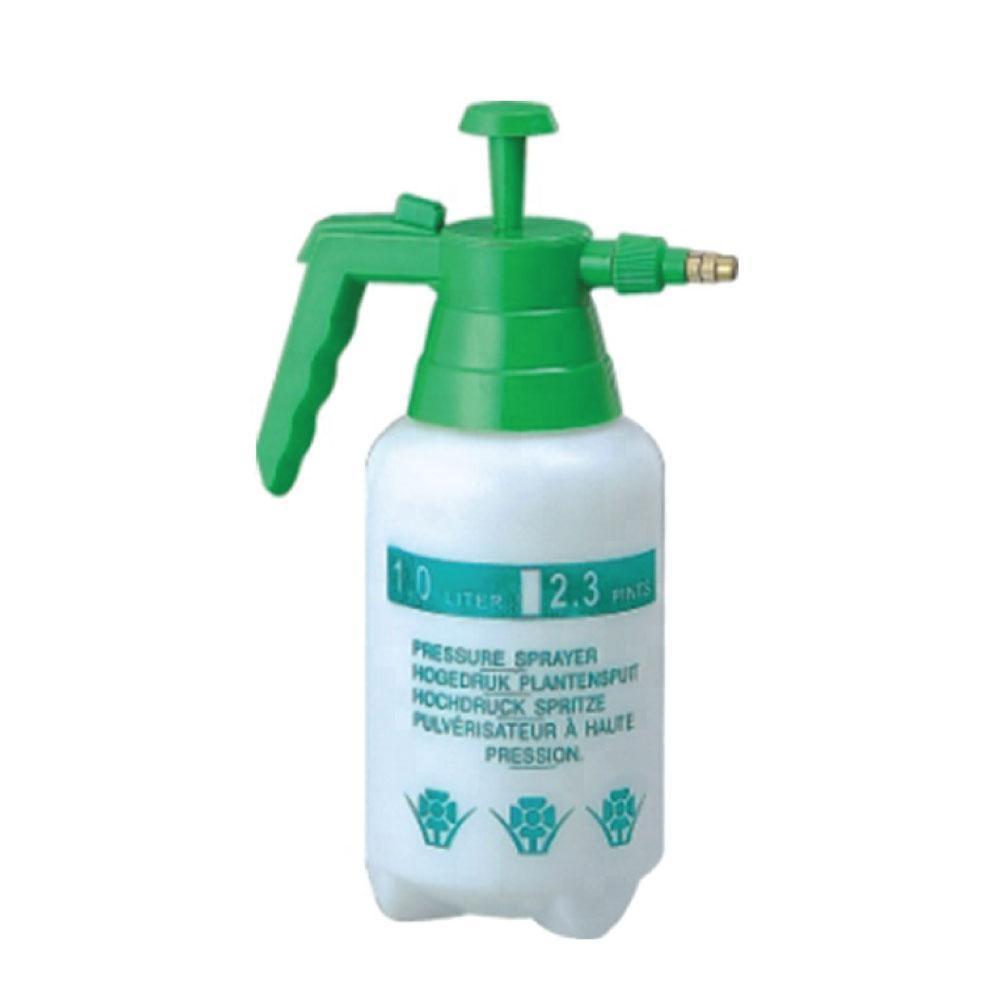 1L Hand Held Pressure Sprayer Plastic Pump Bottle Portable Weed Garden Water