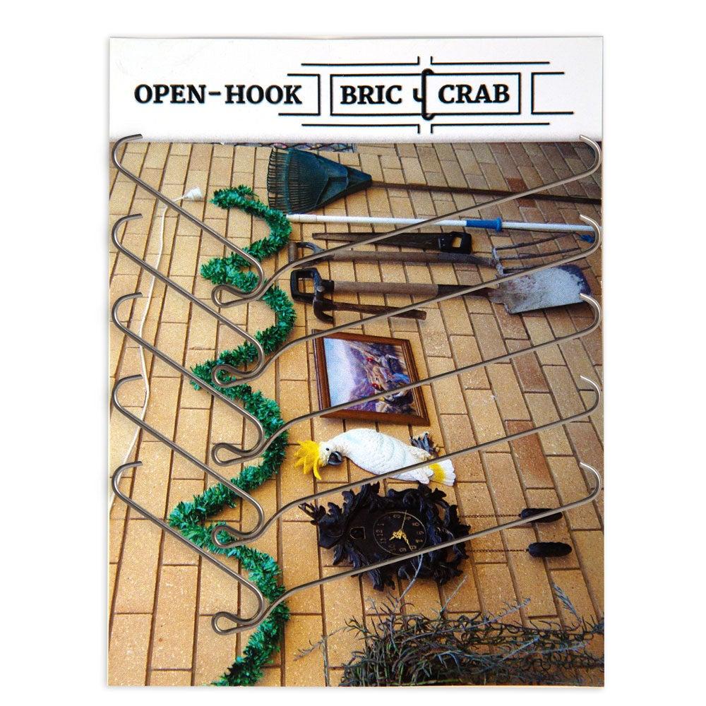 "5 Pack 90mm (3.5"") Brick Wall Hooks Crab Picture Hangers Plant Hanger Slats Clip"