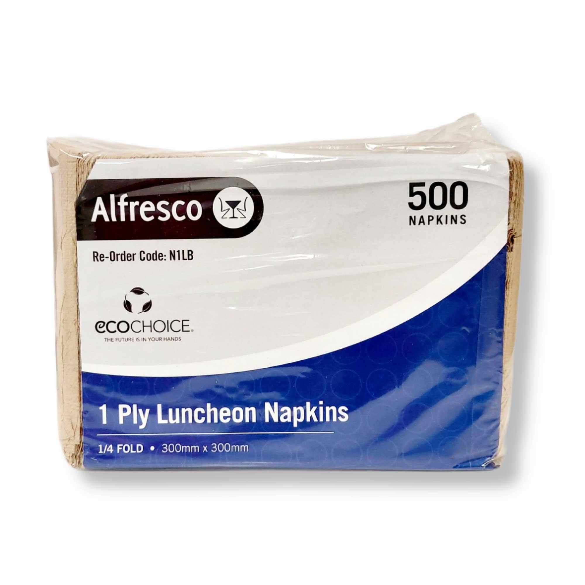 500 Pkt Luncheon Napkins Compostable Brown Paper Eco Serviettes 30x30cm 1Ply