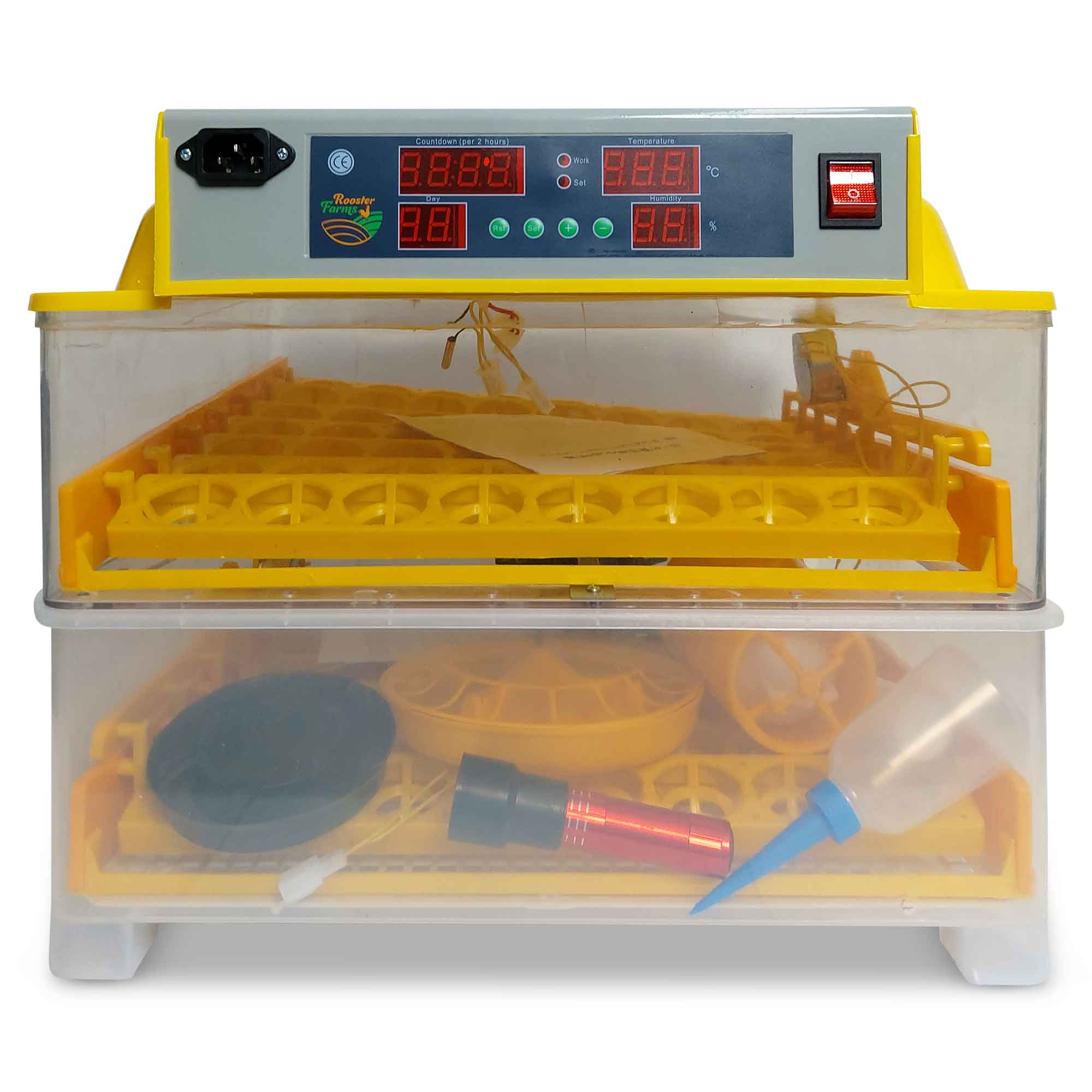 Electric 112 Egg Incubator + Accessories Hatching Eggs Chicken Quail Duck