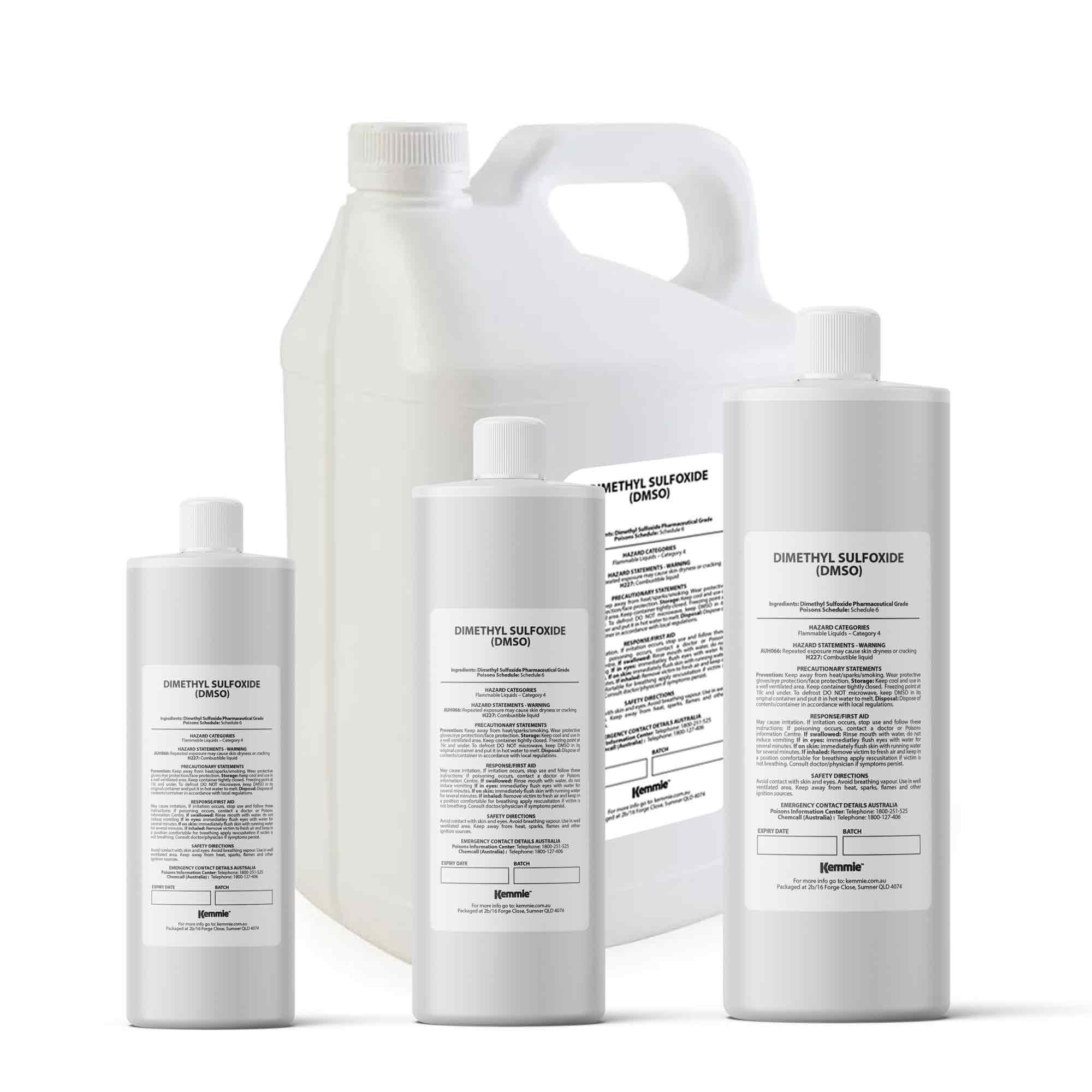 DMSO Liquid Dimethyl Sulfoxide 99.9% Pure Pharmaceutical Grade Solvent Bulk Size