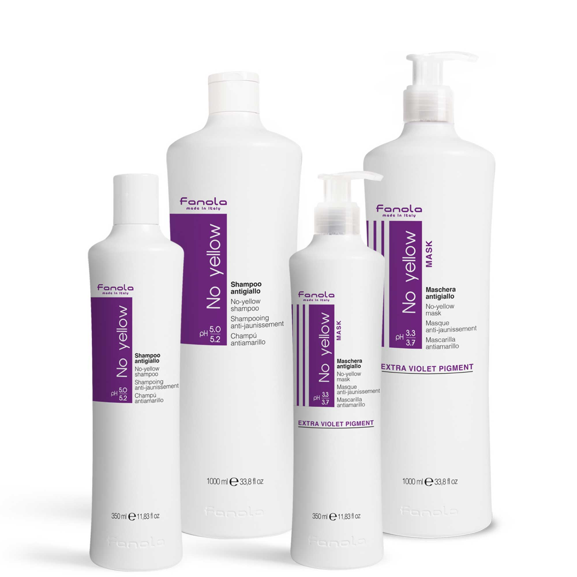 Fanola No Yellow Hair Toner - Streak Shampoo Or Mask Or Pack Options Available