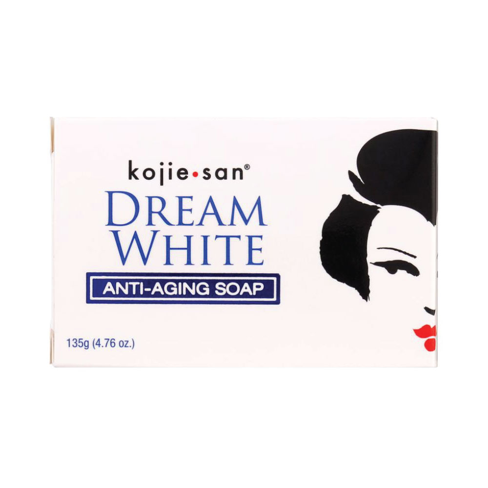 Kojie Anti Aging Soap Dream White 135g Whitening Brightening Elastin Collagen