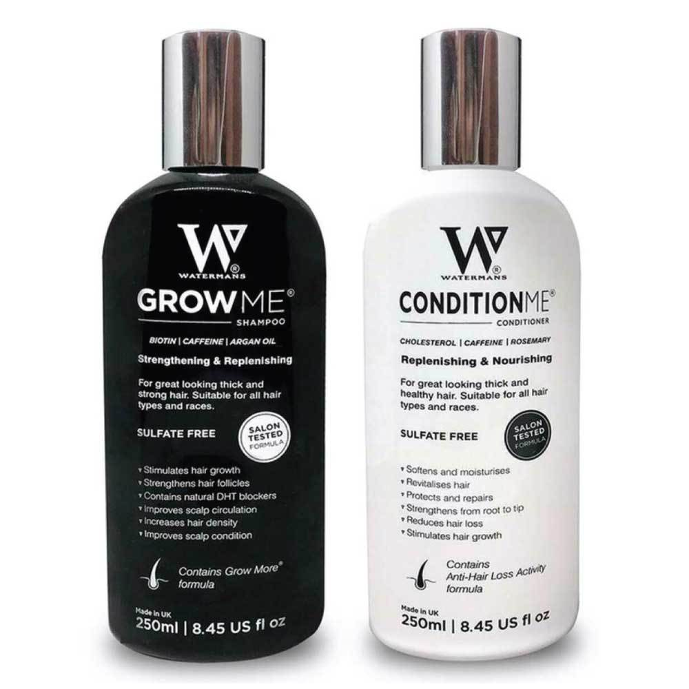 Watermans Grow Me Shampoo and Conditioner Hair Growth Pack Combo Anti Loss Fall