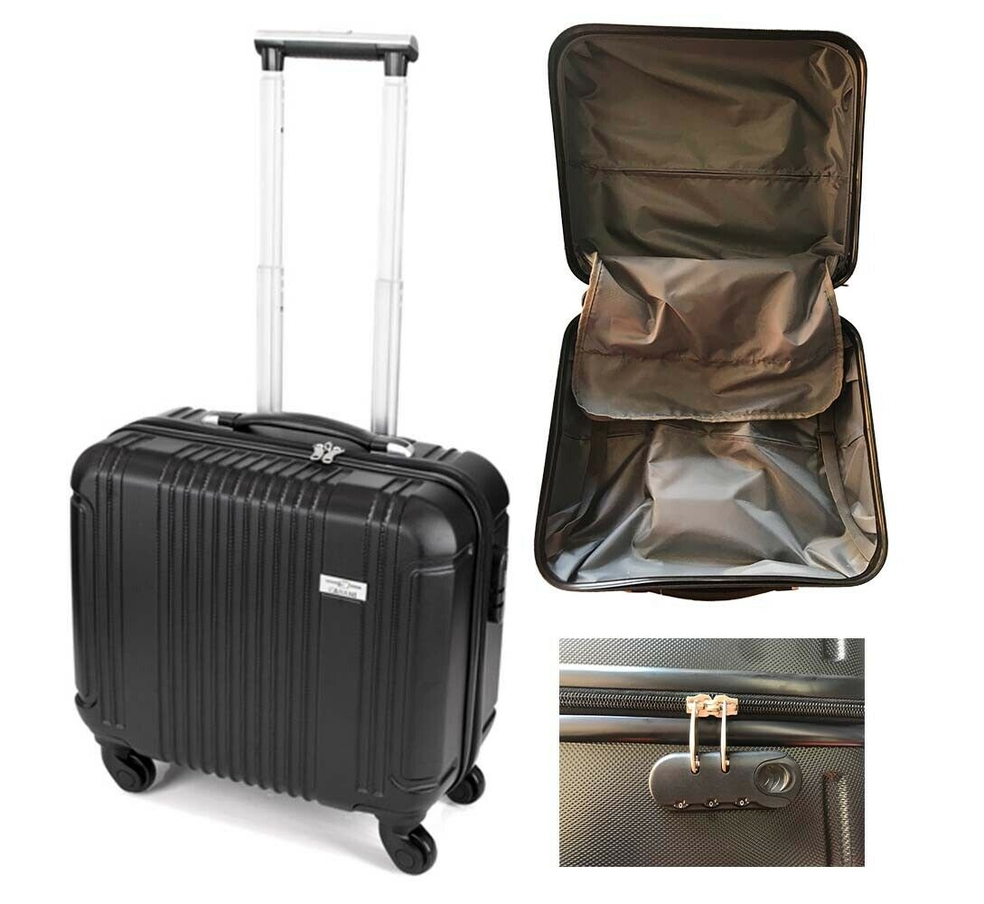 Business Case ABS Trolley Luggage Wheel Work Lightweight Suitcase Carry On Black