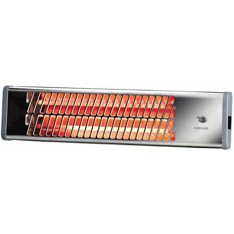 Heller Electric Wall Heater Chrome Pullcord Bathroom Heat Waterproof Strip 1500W