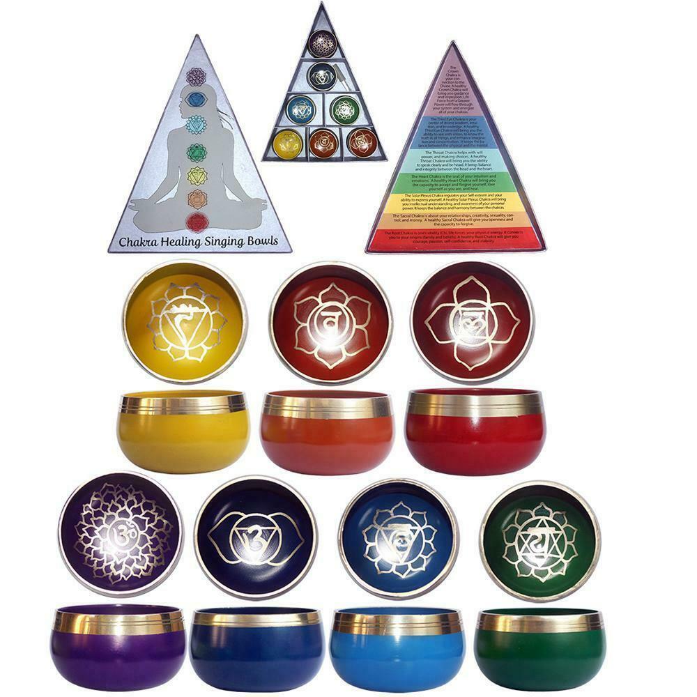 Tibetan Singing Bowl Hand Beaten Hammered Brass Meditation Yoga Spiritual 9.5cm