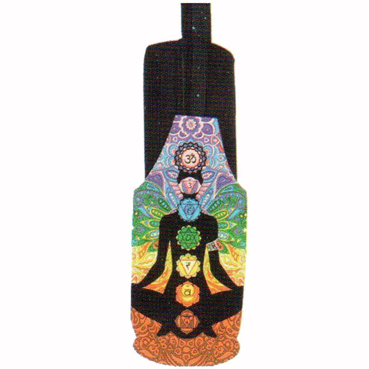 Yoga Pilates Bottle Bag Mat Carrier Chakra Meditation Multi