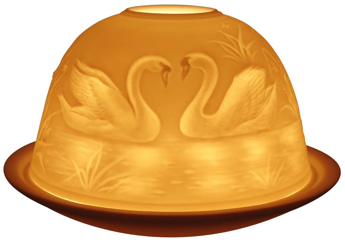 Light-Glow Swans Tealight Candle Holder