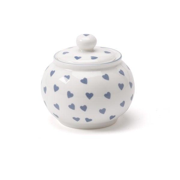 Nina Campbell Bone China Sugar Bowl Blue Hearts Design