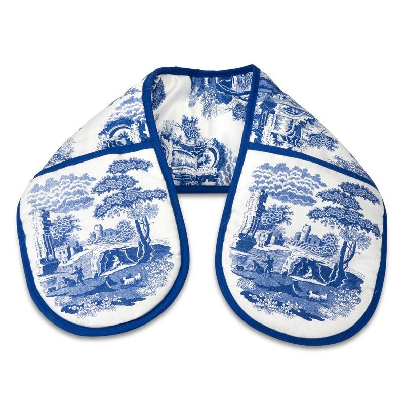 Portmeirion Blue Italian Double Oven Glove