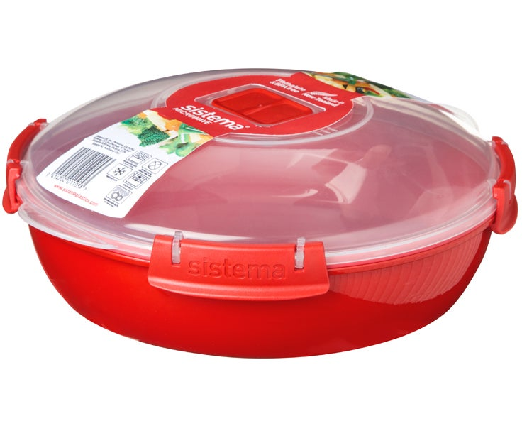 Sistema Microwave Round Plate, Red 1.3 Ltr