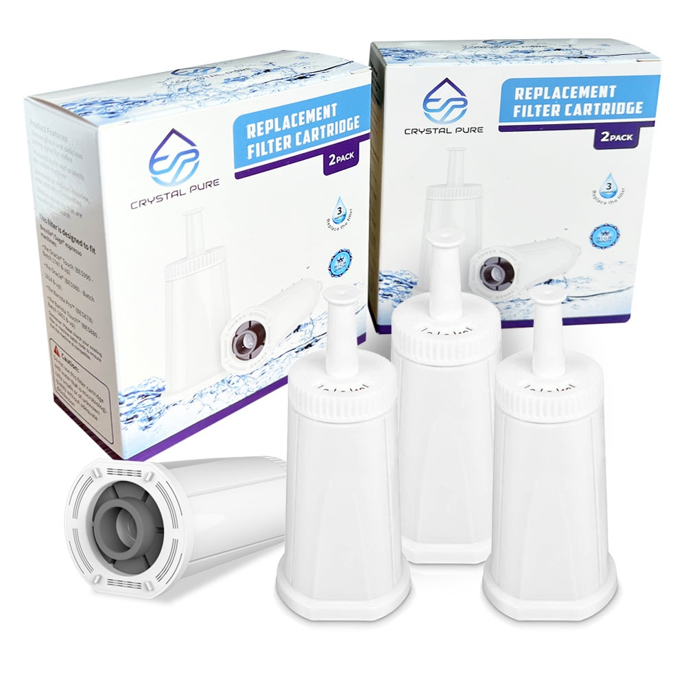 4 Pack Replacement Water Filter Cartridge Fit Breville Claro Swiss BES008WHT0NAN1 Coffee Machine