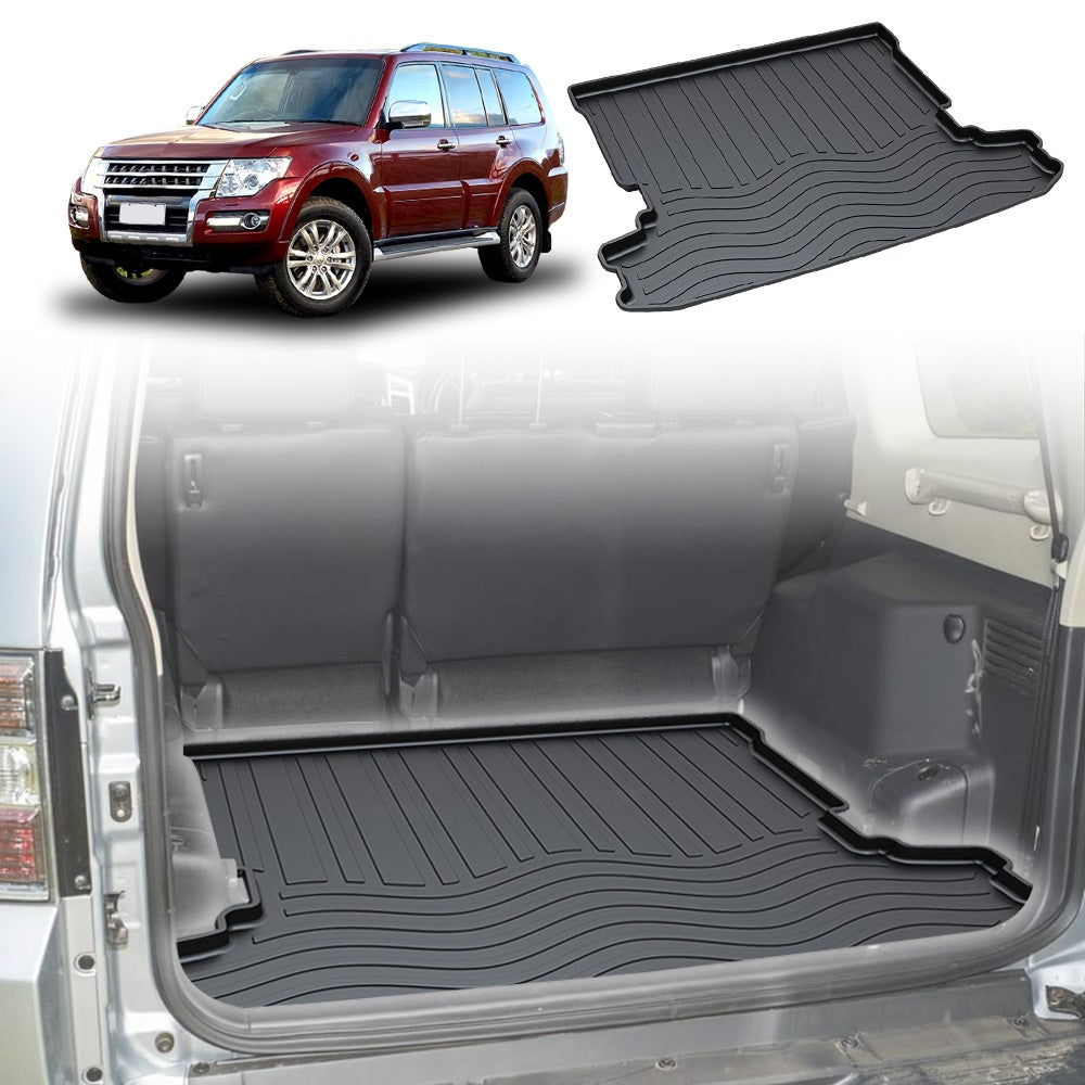 Heavy Duty Cargo Rubber Mat Boot Liner for Mitsubishi Pajero 2006 2007 2008 2009 2010 2011 2012 2013 2014 2015 2016 2017 2018 2019