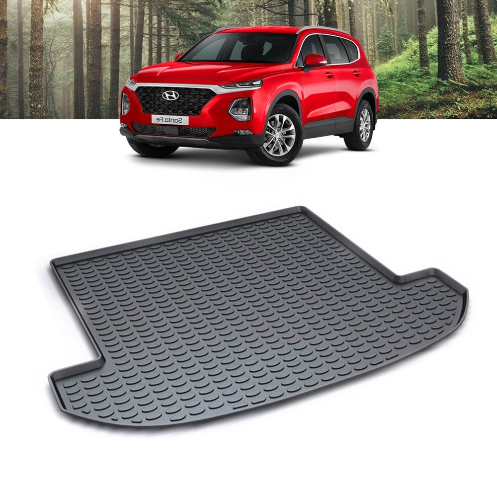 Waterproof Cargo Mat Boot Liner Trunk Luggage Tray Fit for Hyundai SUV Santa Fe 2018 2019 2020 2021