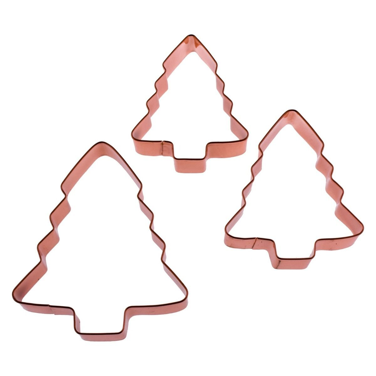 DLINE COPPER PLATED CHRISTMAS COOKIE CUTTERS - XMAS TREE