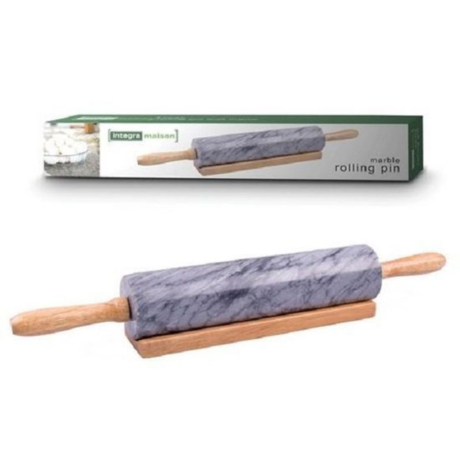 INTEGRA MAISON MARBLE ROLLING PIN WITH CRADLE